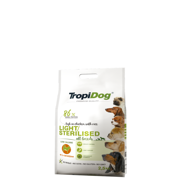 TropiDog Light/Sterilised 2,5 kg