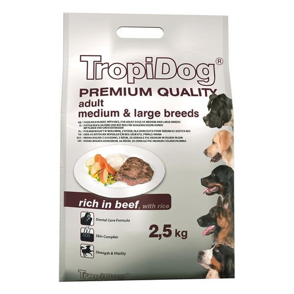 TropiDog Adult M&L govedina 2,5 kg