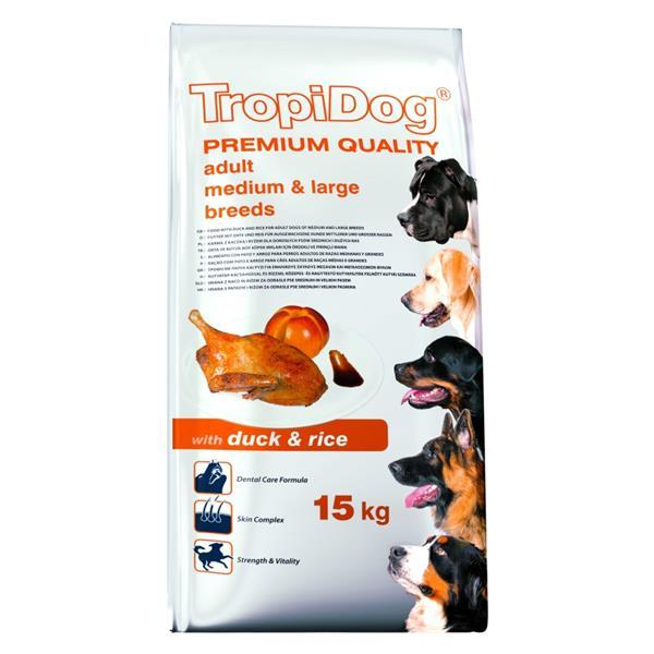 TropiDog Adult M&L raca 15 kg