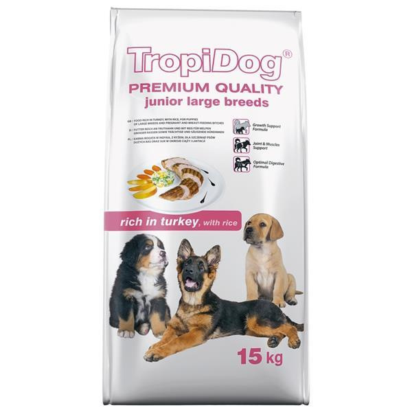 TropiDog Junior Large Breeds 15 kg