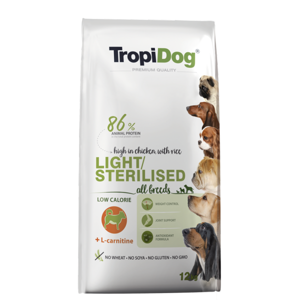TropiDog Light/Sterilised 12 kg